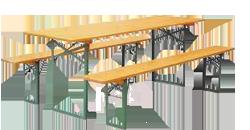 Tavoli e panche pieghevoli pieghevoli legno - Tavoli e panche pieghevoli ...
